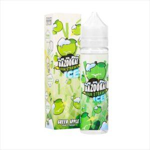 E-Liquide 50ML GREEN APPLE ICE - BAZOOKA SOUR STRAWS
