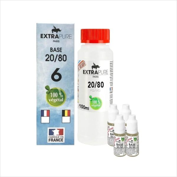 PACK DIY 140ML 20/80 6MG - EXTRAPURE