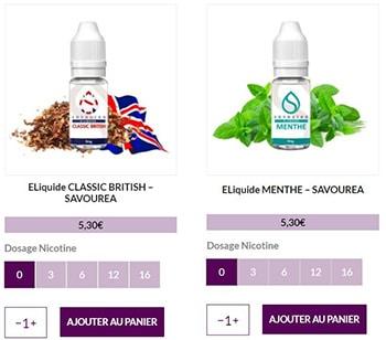 Trouver dosage de nicotine e-liquide
