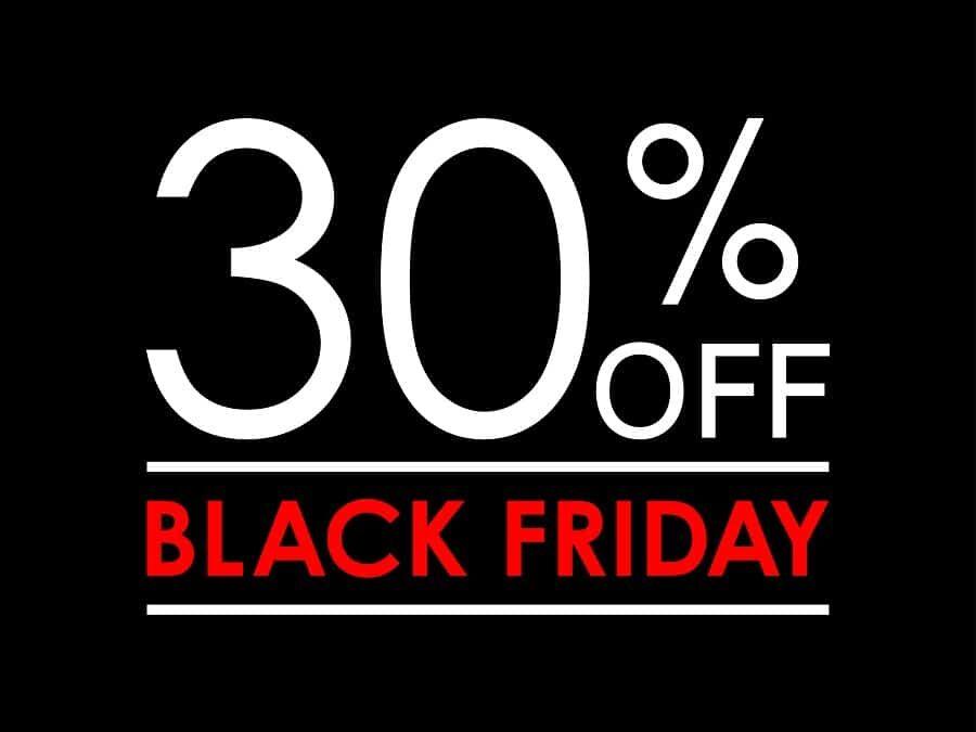 Le Black Friday 2019 avant l'heure ! Une semaine de folie démarre avec tous nos produits à -30% jusqu'au 29/11!!