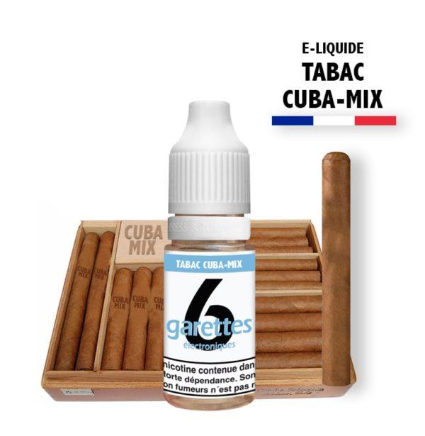 6garettes - E liquide Saveur tabac cuba-mix