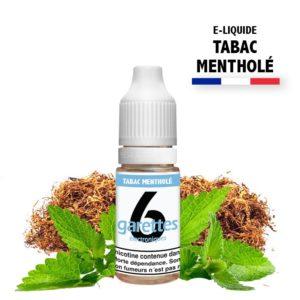 E liquide 6garettes saveur tabac mentholé eliquide-DIY.fr