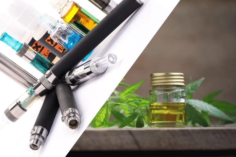 Vapoter du CBD ou de la nicotine – faisons le point