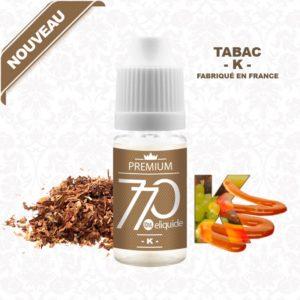 E-Liquide Tabac K - 770 eliquide-DIY.fr
