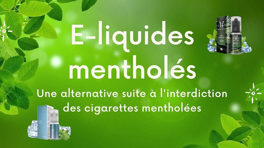 E-liquide menthe, alternative à l'interdiction des cigarettes au menthol en France ?