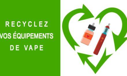 Recycler son équipement de vape : cigarette électronique et eliquide