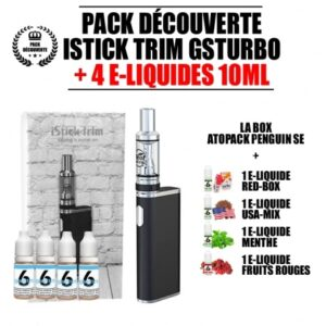 Kit E-liquide + E-cigarette iStick Trim GSTurbo
