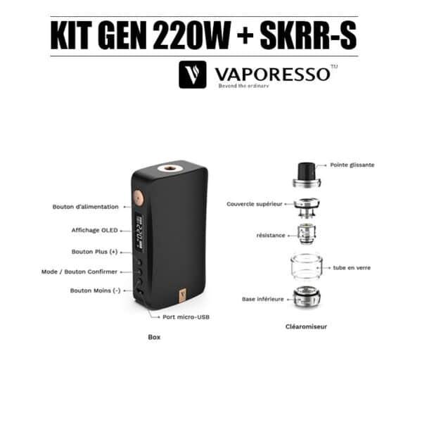 kit gen 220w skrr-s vaporesso - schéma
