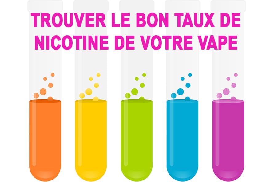 Comment trouver le parfait taux de nicotine pour votre cigarette électronique ?