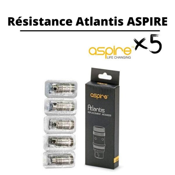 résistance aspire atlantis pas cher