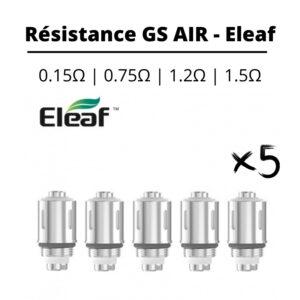 resistance gs air Coil Eleaf